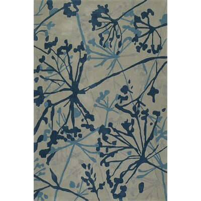 Gorham Hand-Woven Steel/Blue Area Rug Rug Size: Rectangle 36 x 56