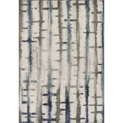 Gillespie Shag Blue/Charcoal Area Rug Rug Size: Rectangle 3'3