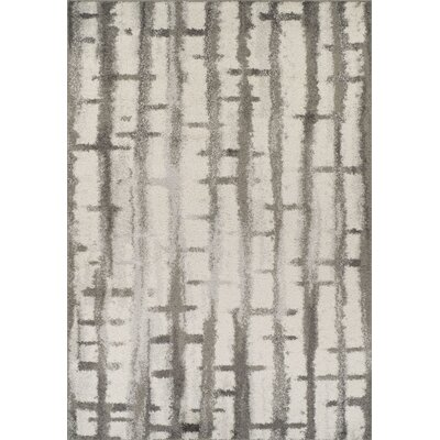 Seitz Shag Silver Area Rug Rug Size: Rectangle 96 x 132
