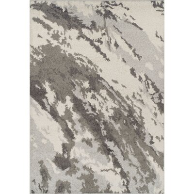Sadye Shag Silver Area Rug Rug Size: Rectangle 51 x 75