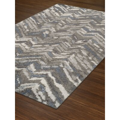 Salley Shag Gray Area Rug Rug Size: Rectangle 51 x 75