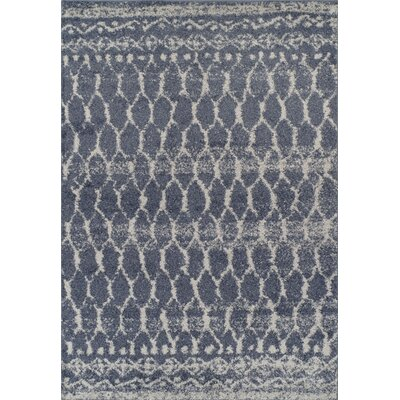 Theresa Shag Navy Area Rug� Rug Size: Rectangle 51 x 75