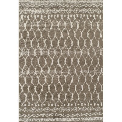 Thio Shag Taupe/Ivory Area Rug� Rug Size: Rectangle 51 x 75