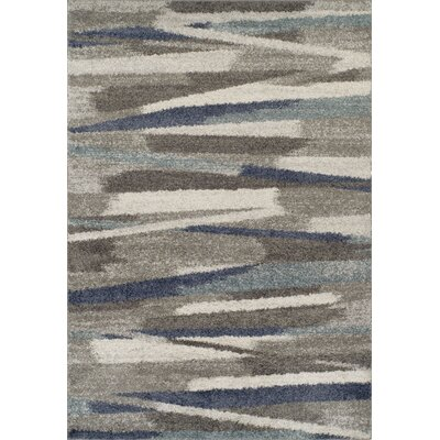 Sammy Shag Ivory/Blue Area Rug Rug Size: Rectangle 51 x 75