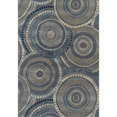 Thistle Gray/Indigo Indoor/Outdoor Area Rug Rug Size: Rectangle 2 x 3