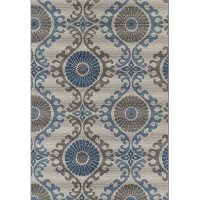 Constantia Silver Indoor/Outdoor Area Rug� Rug Size: Rectangle 33 x 51