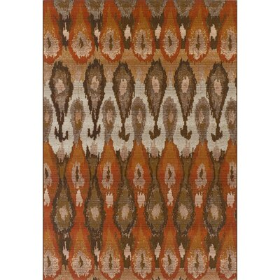 Tiana Brown/Orange Indoor/Outdoor Area Rug� Rug Size: Rectangle 51 x 7