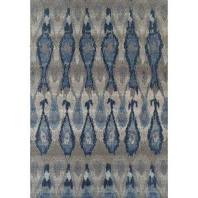 Tiffany Indigo/Gray Indoor/Outdoor Area Rug� Rug Size: Rectangle 82 x 10