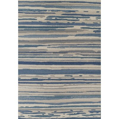 Tilburg Indigo/Beige Indoor/Outdoor Area Rug� Rug Size: Rectangle 82 x 10