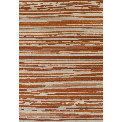 Tillia Paprika Indoor/Outdoor Area Rug� Rug Size: Rectangle 51 x 7
