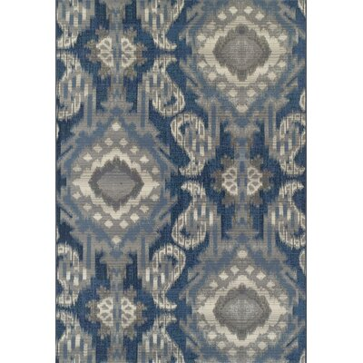 Toey Indigo Indoor/Outdoor Area Rug Rug Size: Rectangle 51 x 7