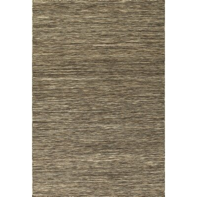 Houx Hand Woven Wool Chocolate Area Rug Rug Size: Rectangle 36 x 56