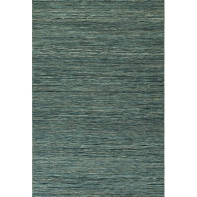 Junien Hand Woven Wool Turquoise Area Rug Rug Size: Rectangle 36 x 56