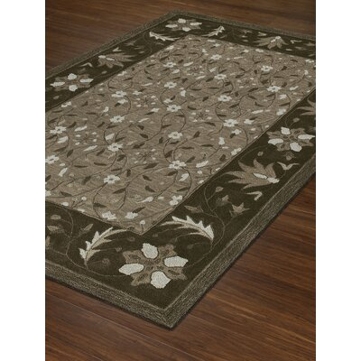 Dedrik Hand-Tufted Chocolate Area Rug Rug Size: Rectangle 36 x 56