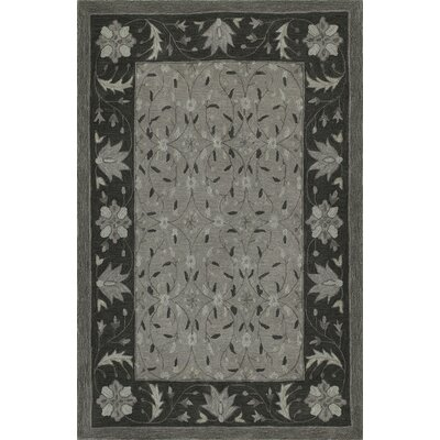 Delmi Hand-Tufted Pewter Area Rug Rug Size: Rectangle 5 x 76