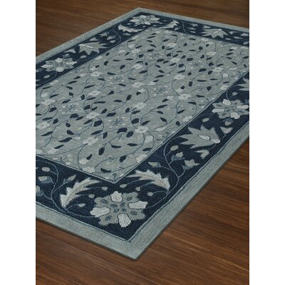 Delmira Hand-Tufted Sky Area Rug Rug Size: Rectangle 5 x 76