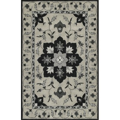 Dereck Hand-Tufted Silver Area Rug Rug Size: Rectangle 36 x 56