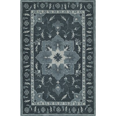 Derick Hand-Tufted Slate Area Rug Rug Size: Rectangle 5 x 76