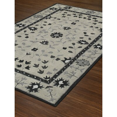 Derrek Hand-Tufted Silver Area Rug Rug Size: Rectangle 5 x 76