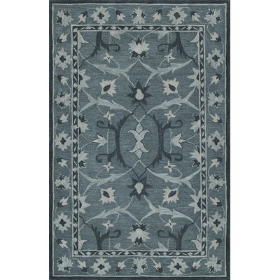 Dietrich Hand-Tufted Slate Area Rug Rug Size: Rectangle 36 x 56