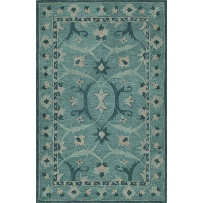 Dietz Hand-Tufted Teal Area Rug Rug Size: Rectangle 36 x 56