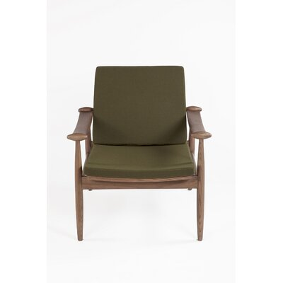 The Redford Arm Chair Color: Dark Green