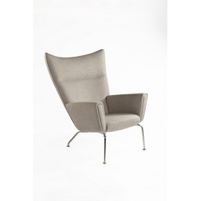 The Hoffman Lounge Chair Upholstery: Wheat