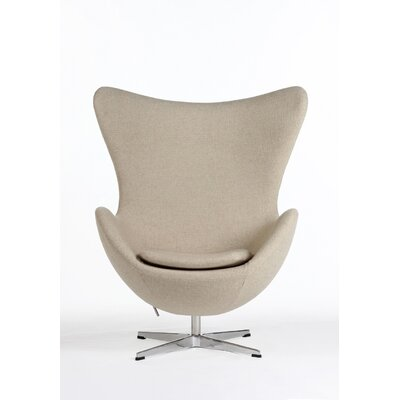The Slattery Lounge Chair Color: Beige