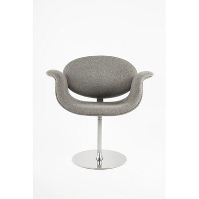 The Lily Swivel Arm Chair Upholstery: Light Grey