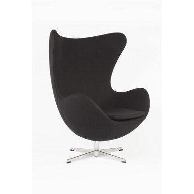 The Slattery Lounge Chair Upholstery: Black