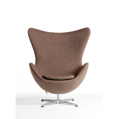 The Slattery Lounge Chair Upholstery: Brown