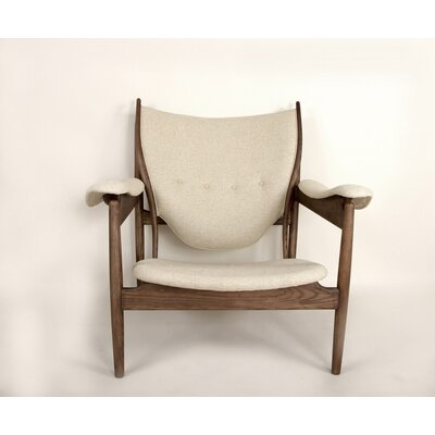 The Sterling Arm Chair Color: Twill Beige