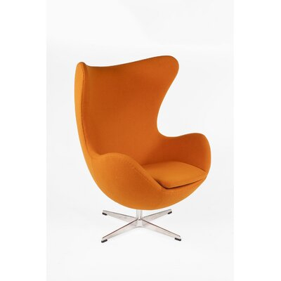 The Slattery Lounge Chair Color: Dark Orange