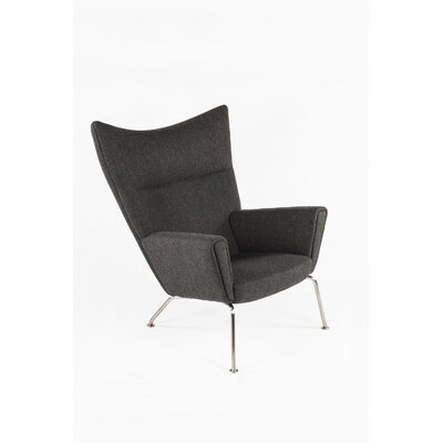 The Hoffman Lounge Chair Upholstery: Twill Black