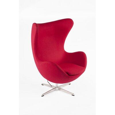 The Slattery Lounge Chair Upholstery: Dark Red