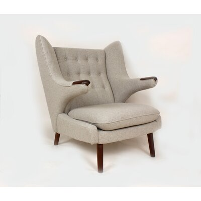 The Olsen Wing back Chair Upholstery: Wheat