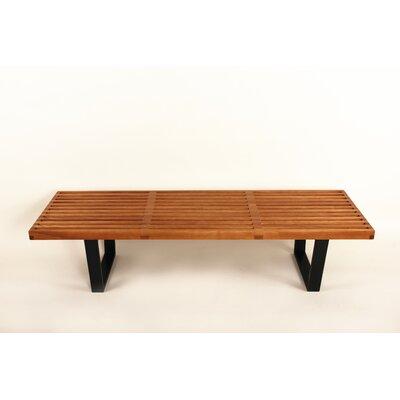 """STILNOVO The Kolding Slat Bench - Color: Walnut, Size: 14.5"""" H x 60"""" W x 18.5"""" D at Sears.com"""