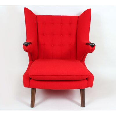 The Olsen Wing back Chair Color: Red