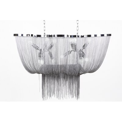 The Avalon 12-Light Waterfall Chandelier