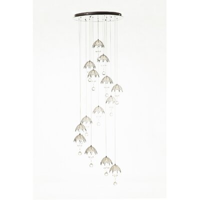 The Hattem 14-Light Crystal Pendant