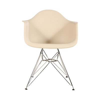 The Mid Century Metal Eiffel Arm Chair Upholstery: Beige