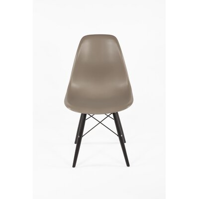 Mid-Century Solid Wood Dining Chair Upholstery: Grey