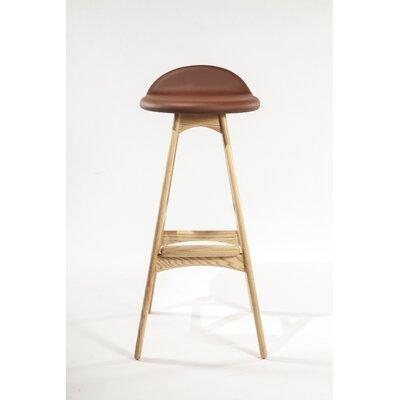 The Erik Buck 29.5 Bar Stool Upholstery: Brown / Natural