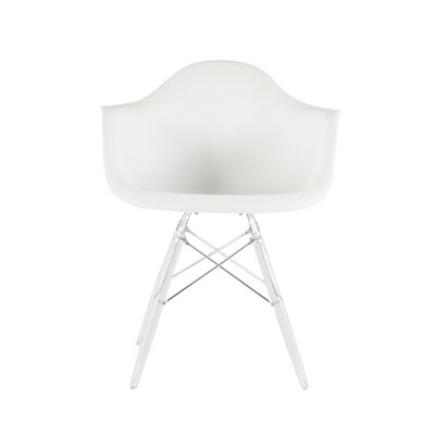 The Mid Century Eiffel Side Chair Upholstery: White