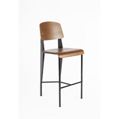 26.5 Bar Stool Finish: Black Frame/Walnut Seat