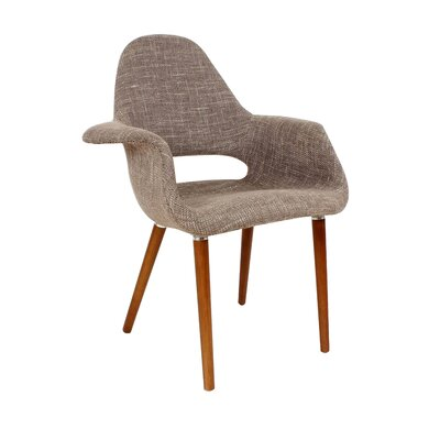 Organic Armchair Upholstery: Brown