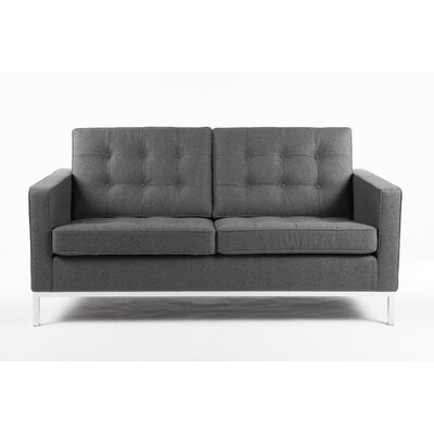 The Draper Loveseat Upholstery: Fabric - Darkish