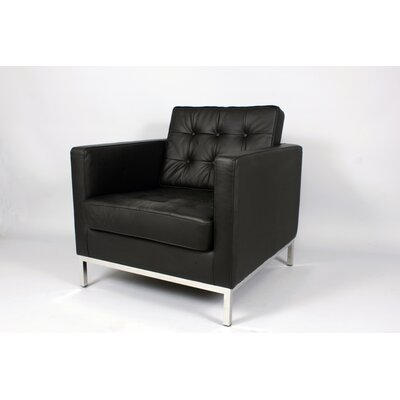 Draper Armchair Color: Black