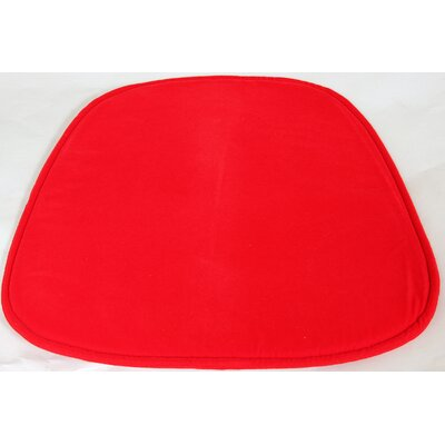 Lounge Chair Cushion Fabric: Red