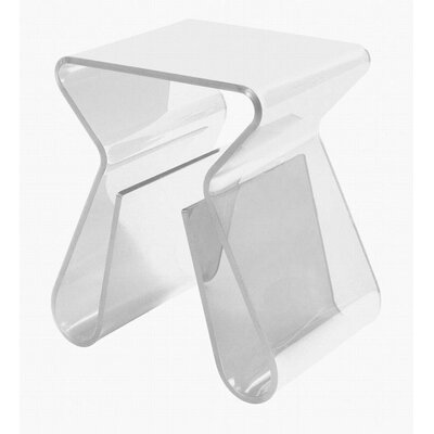 Monarch Butterfly End Table Finish: White